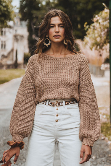 PULL CISTE TAUPE